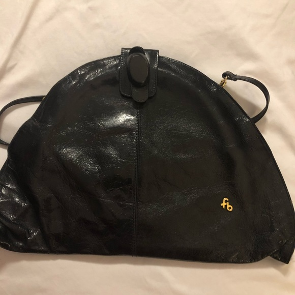 Vintage FB made in Italy black leather Purse